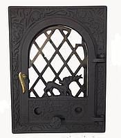 Стеклянная дверца для камина - VVK 35 х 46 см /27х38см
