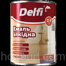 """Емаль алкідна ПФ-266 для підлоги ТМ """"Delfi"""" (золотисто-коричнева) 0,9 кг"""