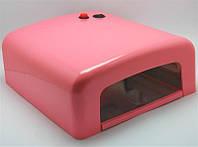 УФ лампа для ногтей YRE 36W глянцевая розовая