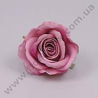 Головка Розы велюр розовая 23242 (24 шт.)