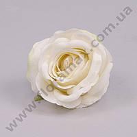 Головка Розы велюр белая 23241 (24 шт.)