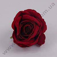 Головка Розы велюр бордовая 23254 (24 шт.)