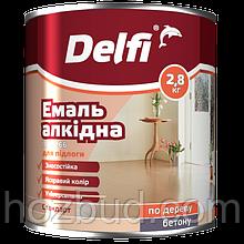 """Емаль алкідна ПФ-266 для підлоги ТМ """"Delfi"""" (золотисто-коричнева) 2,8 кг"""