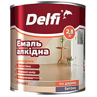 """Эмаль алкидная ПФ-266 для пола TM """"Delfi"""" (красно-коричневая) 2,8 кг"""