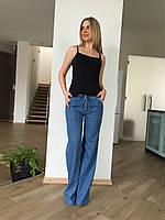 Джинсы женские летние прямые широкие от бедра клеш от бедра тонкие на завязках прямые от бедра Lexus jeans