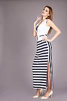 Яркая длинная летняя юбка в полоску