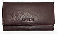 Женский кошелек вместительный сливового цвета