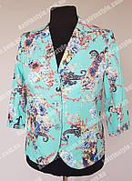 Женский пиджак бирюзовой расцветки
