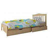 """Односпальная кровать """"Хлоя мини"""" из дерева (массив бука)"""
