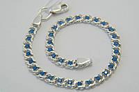 Браслет из серебра 925 с голубыми камнями