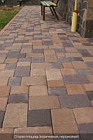 Старая площадь 40мм цвет на сером цементе- коричневый, персиковый, черный, красный, горчичный