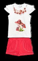 Комплект летний футболка и шорты для девочки
