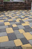Старая площадь 80мм цвет на белом цементе - желтый, белый