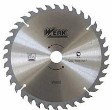 Пильні диски WERK по дереву 250X32, 40 зуб