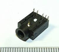 A015 Аудио разъем, гнездо под 3х контактный штекер 3,5 мм для  ноутбуков и материнских плат  5-PIN