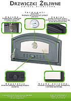 Дверка чугунная с термометром  DCH4T