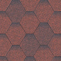 Битумная черепица Акваизол Мозаика 3 кв.м (красная микс)