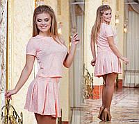 Д652 Стильный летний кофта+юбка