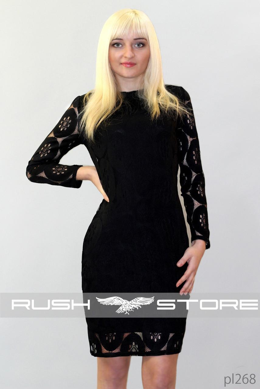 Платье с красивым гипюром - RUSH STORE интернет-магазин женской одежды в Николаеве