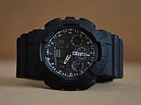 Часы Casio G-Shock GA 100 Черные с белым