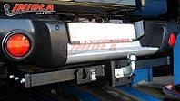 Фаркоп HakPol для Mitsubishi L-200 пластиковый бампер 2006- Торцевой на болтах