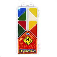 """Акварель медовая """"ГАММА-Н"""" ПЛАСТ  """"МОЗАЇКА"""", 14 цветов"""