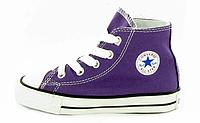 Детские высокие кеды Converse Chuck Taylor All Star (Конверс) фиолетовые