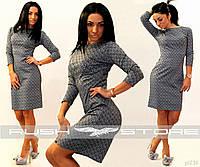 Женское платье серое демисезон