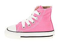 Детские высокие кеды Converse Chuck Taylor All Star (Конверс) розовые