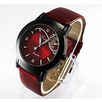 Стильные женские часы.  Красные (Код 033)