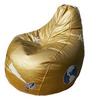 Пуфики детские Кресло бескаркасное мешок-груша мебель мягкая с шариками, фото 1