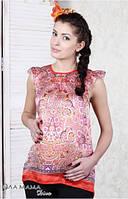 Блуза-туника для беременных Samanta кораллово-морковная-S,L,XL