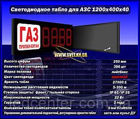 Электронное табло для стел АЗС вид топлива лайтбокс