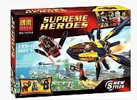 Конструктор Bela 10248 аналог LEGO Super Heroes 76019 Стражи Галактики: Решающее сражение 195 дет