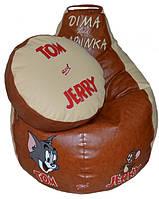 Бескаркасное Кресло детское мешок груша Том и Джерри