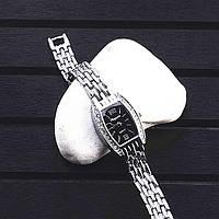 НОВИНКА! Стильные женские часы. Черный цыферблат (Код 035)