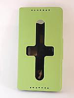 Чехол-книжка для Lenovo S930, боковой, Pielcedan, лайм /flip case/флип кейс /леново