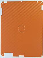 Виниловая наклейка для Apple iPad, iPad 2, iPad 3, Fashion Style, карбон, оранжевый /накладка/чехол /айпад