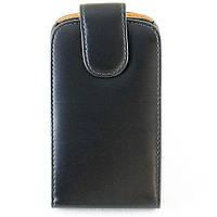 Чехол Флип для LG KP500, Кожаный, Chic Case, Черный /flip case/флип кейс /лж/Чехол Откидной для LG