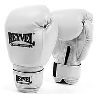 REYVEL  Перчатки боксёрские  винил  12 унций Белые