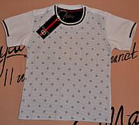 Детская белая футболка для мальчиков стрейч Gucci