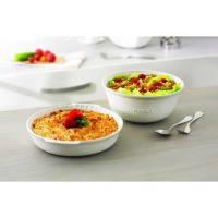 Круглое блюдо pyrex impressions 26 см для пирога белое (ic1pd26)
