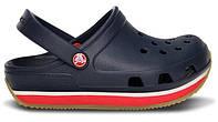 Детские кроксы Crocs Crocband New Dark Blue синие