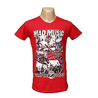 """Мужская стрейчевая футболка Lycra """"Mad Music""""  2637"""
