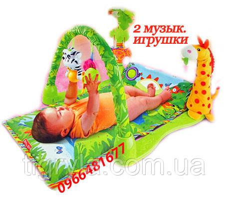 Тропический лес - развивающий коврик для новорожденных, фото 2