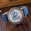 Крутые женские ретро часы с велосипедом  - Фото