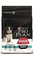Корм для собак Pro Plan Puppy medium Sensitive Лосось 12 кг, для щенков средних и крупных собак
