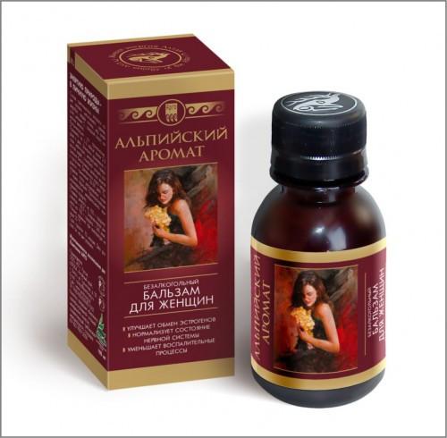 Альпийский аромат, бальзам - способствует восстановлению естественного уровня эстрогенов в организме женщины