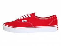 Мужские кеды Vans (ванс, вансы) красные