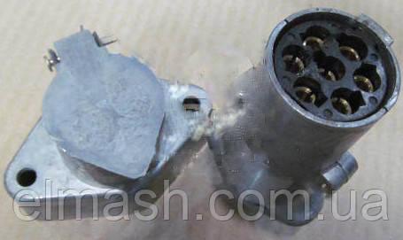 Вилка-розетка 24В <Евро> МАЗ, КАМАЗ(с пыльником)